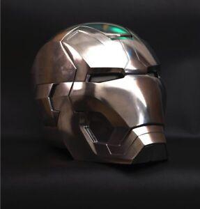 Fine 1:1 Replica Full metal Polished Iron Man MK42 LED eye Helmet Remote Control