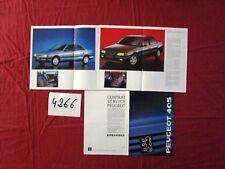 N° 4266 /  PEUGEOT 405 MI 16 ,SR,SRI,GR,GRI....petit catalogue gamme  1989