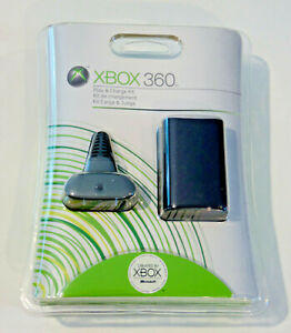 Genuine Official Microsoft Xbox 360 Play & Charge Kit  New - Factory Sealed