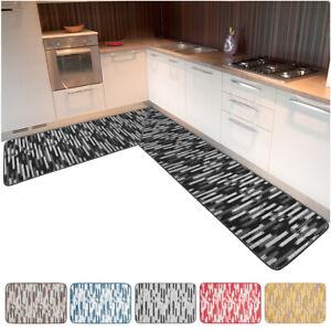 Tappeto cucina angolare bordato passatoia al metro su misura personalizzata