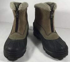 SOREL Boots Women's sz 6 winter Thermolite insulated front zipper GUC