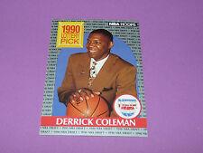 390 DERRICK COLEMAN N.J. NETS LOTTERY PICK 1990 NBA HOOPS BASKETBALL DRAFT