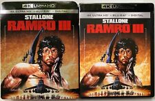 RAMBO III 4K ULTRA HD BLU RAY 2 DISC SET + SLIPCOVER SLEEVE SYLVESTER STALLONE