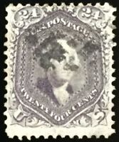 Rare #70c Used, Scott Unlisted DARK VIOLET, SCV $2,250 w/Weiss Certificate