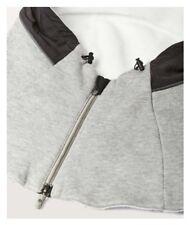 Lululemon $68 BURROW IN SNOOD Hooded Zip Neck Warmer Heathered Grey / Black NWT