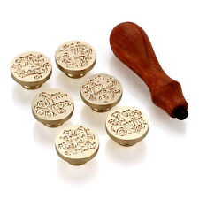 1*Rosewood handle&Wax Seal Stamps(thankyou,Foryou,love,Goodluck,Missyou,Myfriend
