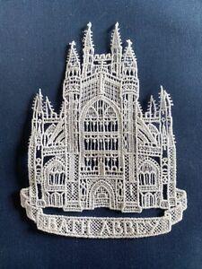 Bath Abbey sew-on lace motif, appliqué, patch