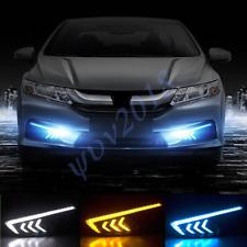For Honda City 2015 2016 2017 3 Colors LED DRL Daytime Running Lights Fog Lamp s