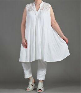 ♦ 3 Farben weites -A-Linie-Kleid/Tunika EG 42,44,46,48,50,52 uni ♦