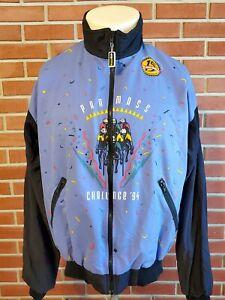 Pan Mass Challenge Vintage Full Zip VoMax Cycling Jacket Mens XL Nylon 1994 EUC