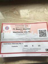 Sammlerticket FC Bayern München - Manchester City Testspiel
