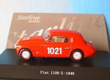 FIAT 1100S #1021 MILLE MIGLIA 1948 ROUGE STARLINE 515030 1/43  ROSSO RED ITALIA