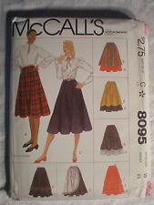 McCall's Women's Skirts 8095 Size 10 1982