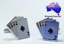 Four Aces Card Novelty Cufflinks