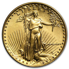 1986 1/10 oz Gold American Eagle Coin - Brilliant Uncirculated - SKU #4695