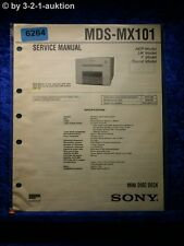 Sony Service Manual MDS MX101 Mini Disc Deck (#6264)