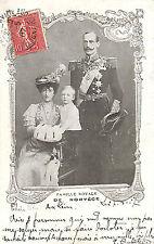 CARTE POSTALE FAMILLE ROYALE DE NORVEGE NORGE 1907