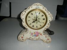 "Vintage Bradley-Rogers Stafford China Electric Mantel Clock Beautiful 9"" X 7"""