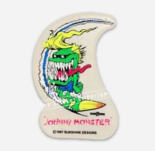 Vtg 1987 Surf Zoids Johnny Monster Santa Cruz Surfer Board Sticker Surfing Decal