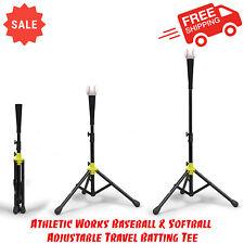 Athletic Works Baseball & Softball Adjustable Travel Batting Tee, Delivery Size