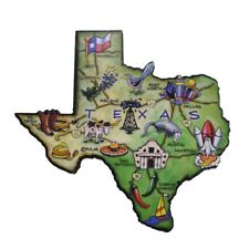 Texas State Artwood Jumbo Fridge Magnet Large Refrigerator Travel Souvenir Gift
