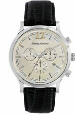 Tommy Bahama Men's Steel Drum Chronograph TB1239 Black Leather Watch