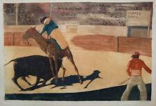 Willi Geiger 1908; toreo corrida, aguafuerte 45 x 65cm.
