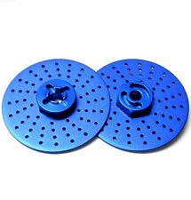 57823LB 1/10 RC M12 12mm Alloy Wheel Adaptors With Brake Disc Blue 38mm x 2
