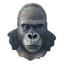 """SILVERBACK KING      Gorilla Wall Hanging Bust     Statue Figurine  H17"""""""