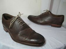 GRENSON MEN'S BRN GRAINED LEATHER WINGTIP OXFORDS MKD SZ 8 F up to US 10 ENGLAND