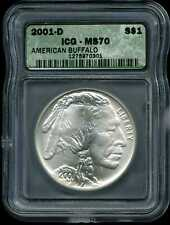 2001-D $1 American Buffalo Commemorative Silver Dollar MS70 ICG 1275970301