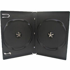 1 X CD DVD 14mm Black DVD Double Case for 2 Disc - Pack of 1