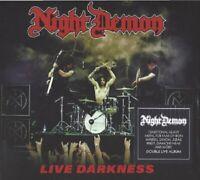 NIGHT DEMON / LIVE DARKNESS * NEW DIGIPACK 2CD'S 2018 * NEU *