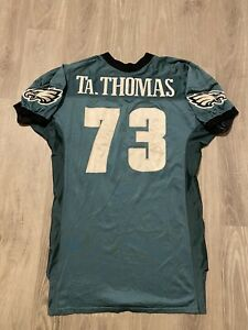 Tra Thomas Philadelphia Eagles Game Worn Practice Jersey 1999 Puma NFL 90s