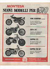Pubblicità 1970 MOTO MOTOR MONTESA KING CAPPRA COTA old advert werbung publicitè