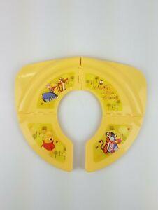 Ginsey Disney Winnie The Pooh Folding Travel Potty Seat Unisex Yellow EUC