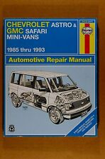 CHEVY ASTRO GMC SAFARI MINI-VANS 1985-1993 REPAIR MANUAL haynes 1477 24010