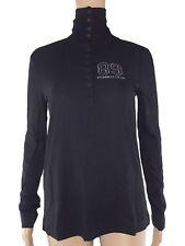 pinko maglia donna jersey collo alto nero stretch made italy taglia m medium