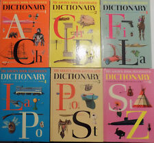 The GOLDEN BOOK 6 Books ILLUSTRATED DICTIONARY 1961 Printing Hardback