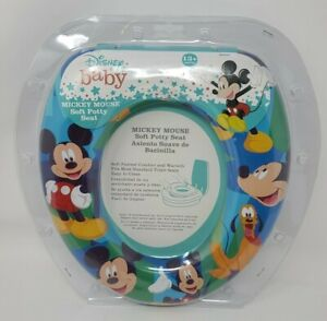NEW Disney Baby Mickey Mouse Soft Potty Seat 13+ Months Soft Padded Fits Toilet