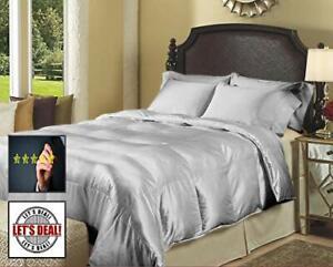1000 TC Satin Silk 5 PC (Sheet Set + Comforter)300 GSM US King & All Color