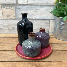 S/4 Ceramic Pottery Home Decorative Flower Plant Bottle Table Vase Ensemble Set