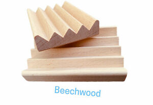 56 natural beech wood Boardwalk style soap dishes - $1.15 cents each