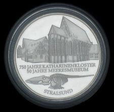 SILBER-GEDENKMÜNZEN 2001:  10 DM GEDENKMÜNZE  KATHARINENKLOSTER / MEERESMUSEUM