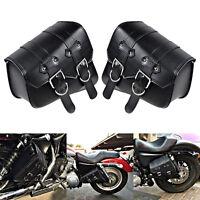 SATTELTASCHE TOOLBAG Leder Motorrad Werkzeugrolle Tasche Seitentasche für HARLEY