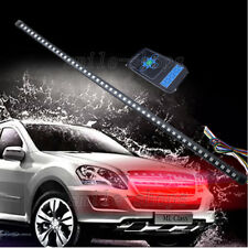 56CM LED Waterproof Flash Car Knight Rider Strip Lights w/Remote Control Red