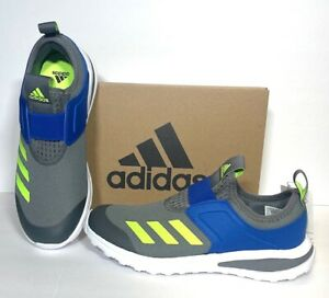 New Adidas Kids' Active Ride Running  Shoes, Youth Size: 5 1/2. Gray/Blue/Green.