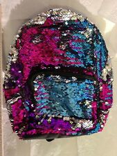 Sparkly Backpack By Fashion Angels New Purple pink Silver Sequins Free Shipping