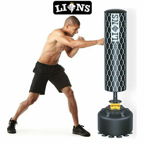 Free Standing Boxing Punch Bag Stand Heavy Duty Sparring Kick Martial Arts Punching Training Punch Bag,4oz Boxing Gloves Set