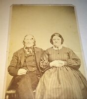 Antique Victorian American Civil War Era Old Couple! Lancaster, PA! CDV Photo!